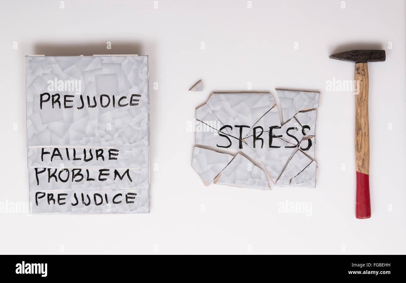 superar el estrés Imagen De Stock