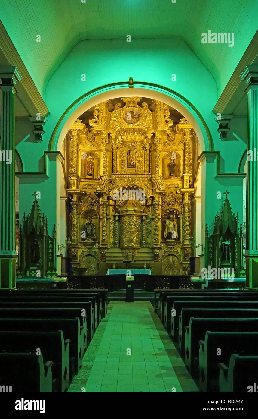 Iglesia del altar de oro San José Ciudad de Panamá Panamá Imagen De Stock