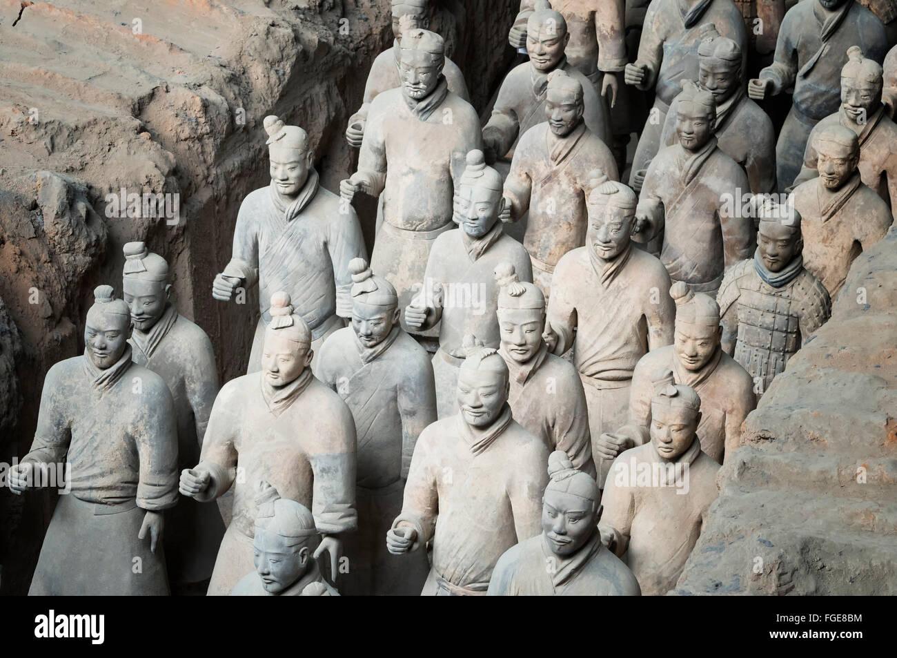 Museo de los Guerreros de Terracota, el mausoleo del primer emperador Qin, Xian, provincia de Shaanxi, China Imagen De Stock