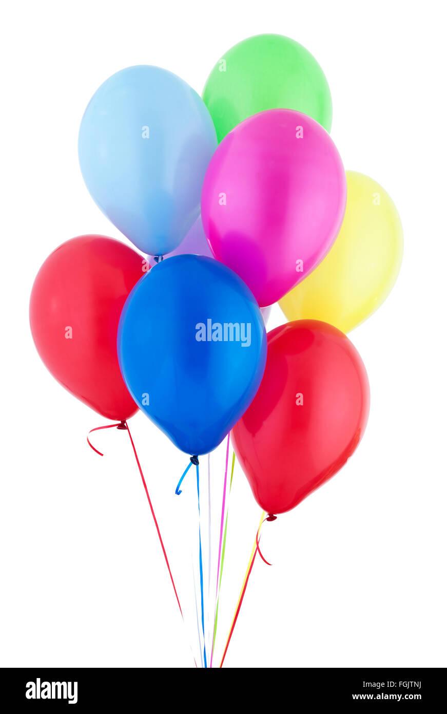 Globos de helio flotando Foto de stock