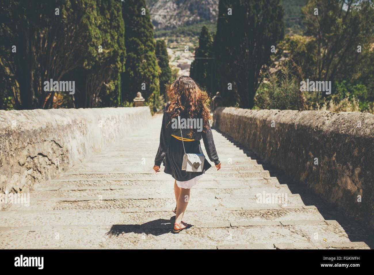 Caminando en el Calvario pasos Imagen De Stock