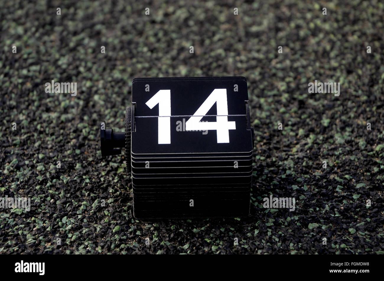 14,14,número,calendario, cumpleaños, día Imagen De Stock