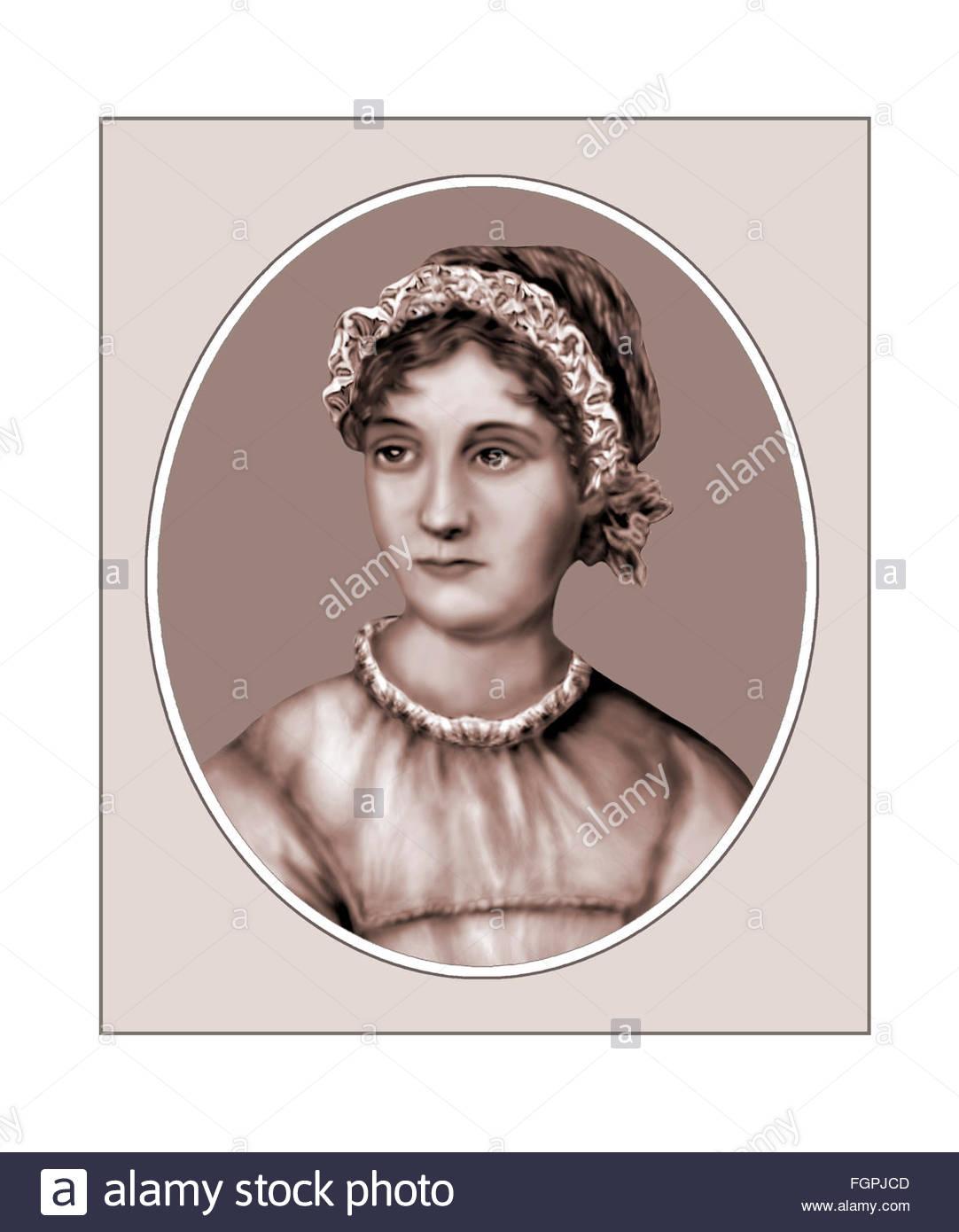 Jane Austen, novelista, Retrato Imagen De Stock