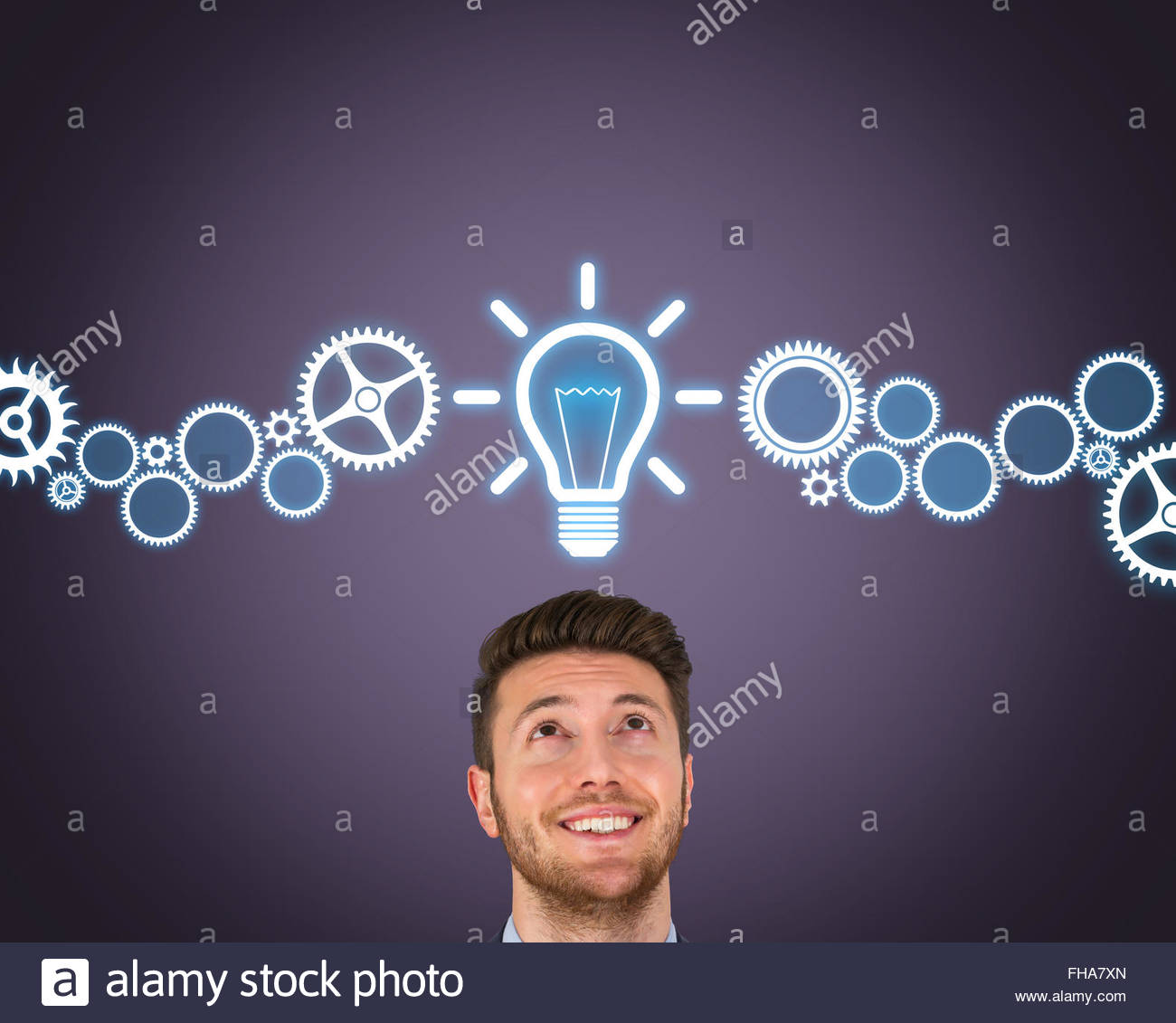 Nueva idea sobre cabeza humana Imagen De Stock