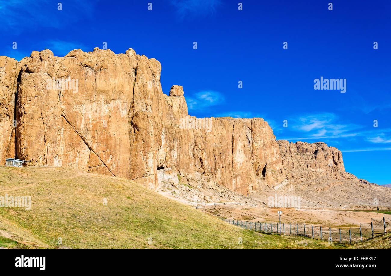 Vista de Naqsh-e Rustam necrópolis en Irán Imagen De Stock