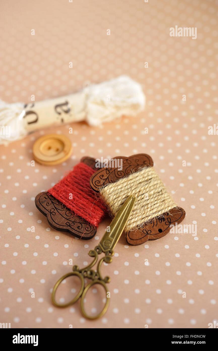 Accesorios de costura Foto de stock