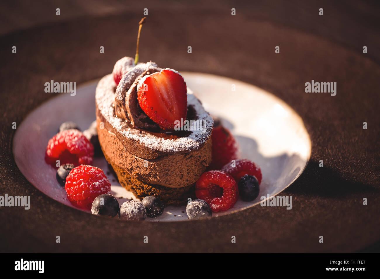 Cerca de postres de chocolate Imagen De Stock