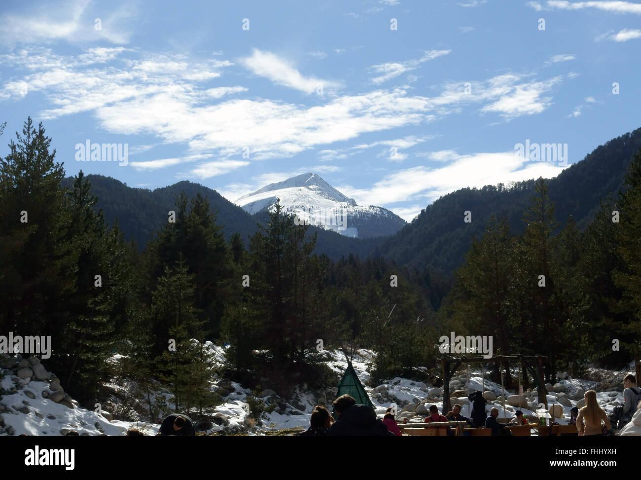 Pico Todorka 2746 metros de esquí Bansko Bulgaria Imagen De Stock