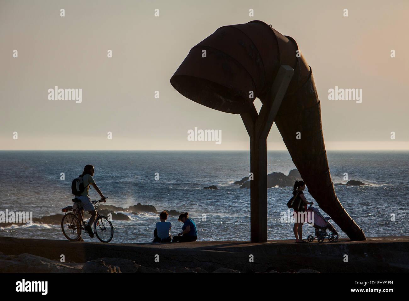 Caracola, caracol, por Moncho Amigo, la ciudad de A Coruña, Galicia, España Imagen De Stock