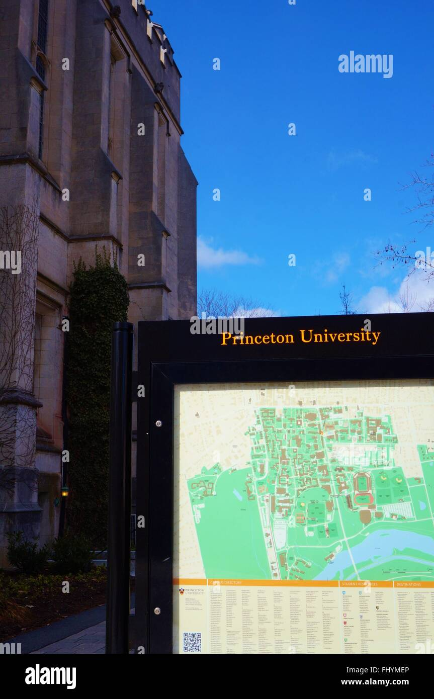 El campus de la Universidad de Princeton, una escuela Ivy League en Princeton, Nueva Jersey, Estados Unidos Imagen De Stock