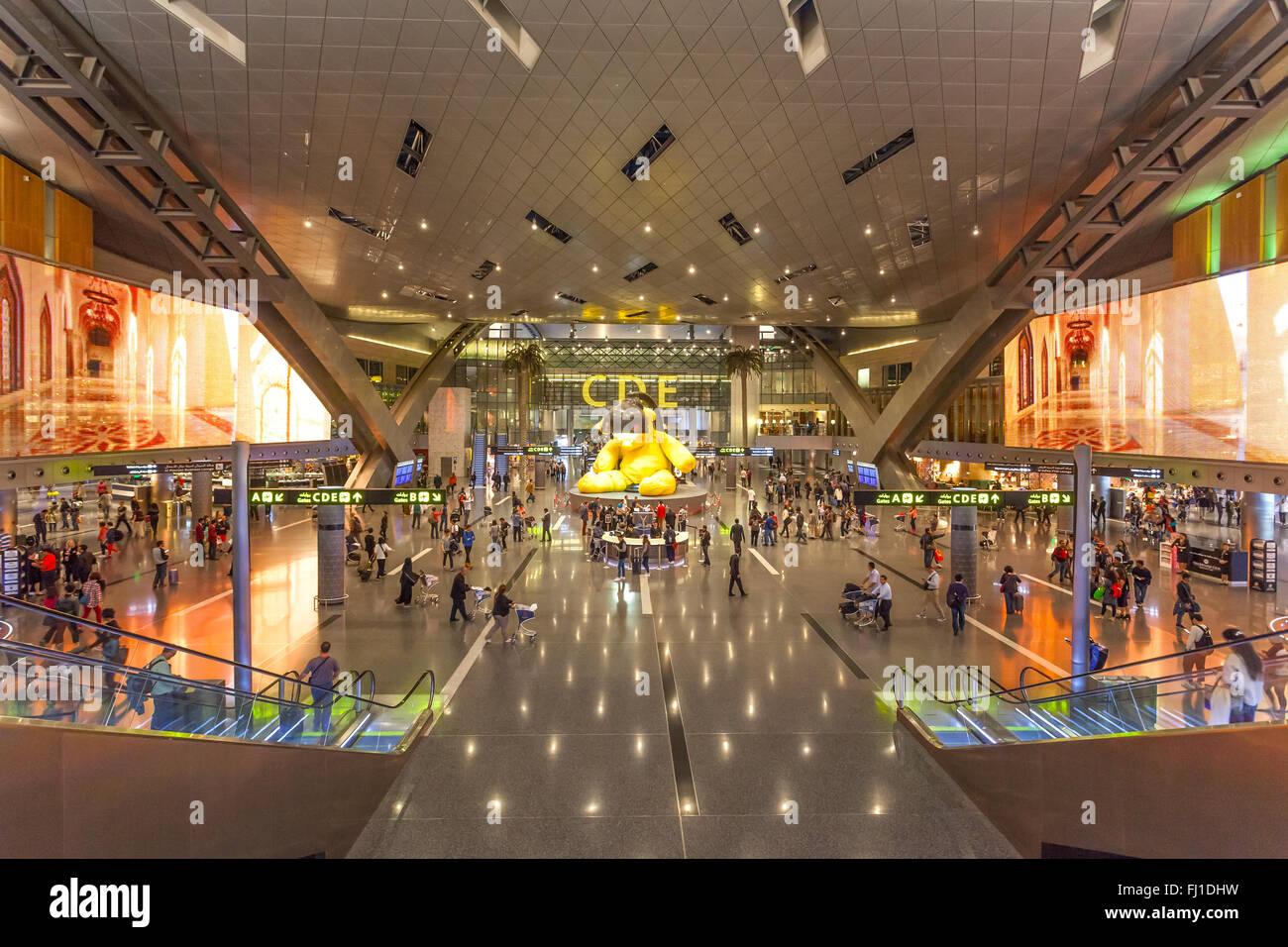Hamad, el aeropuerto internacional de Doha Foto de stock