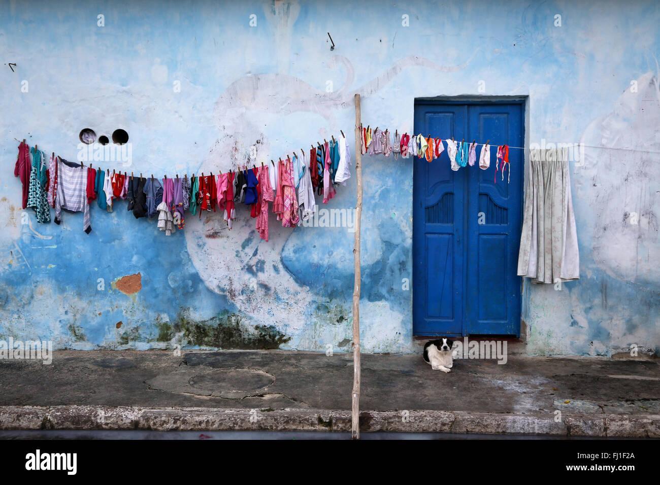 La arquitectura de la casa en Cachoeira, Bahía, Brésil Brasil Imagen De Stock