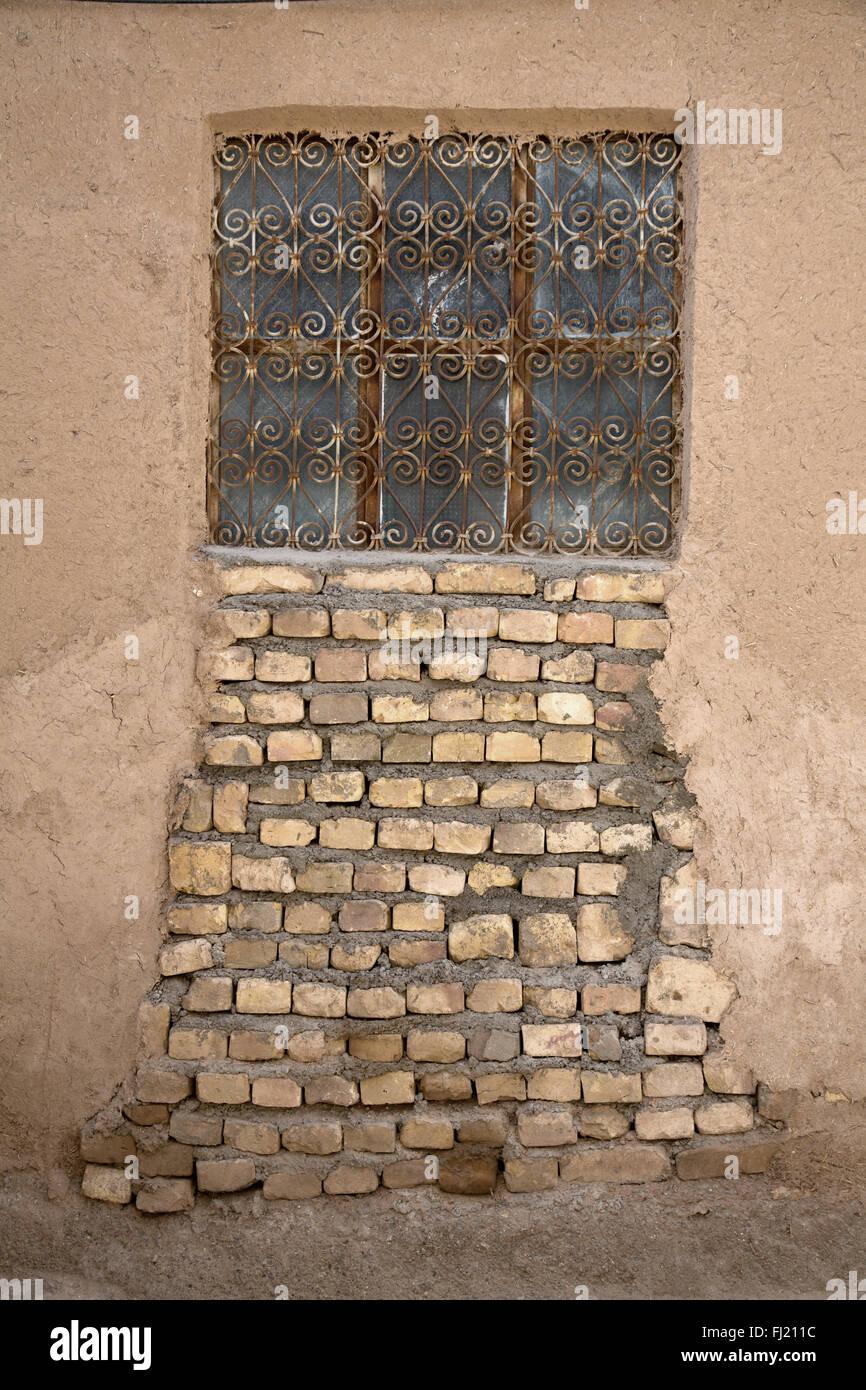 Arquitectura Winbdow en el casco antiguo de la ciudad de Yazd, en Irán Imagen De Stock