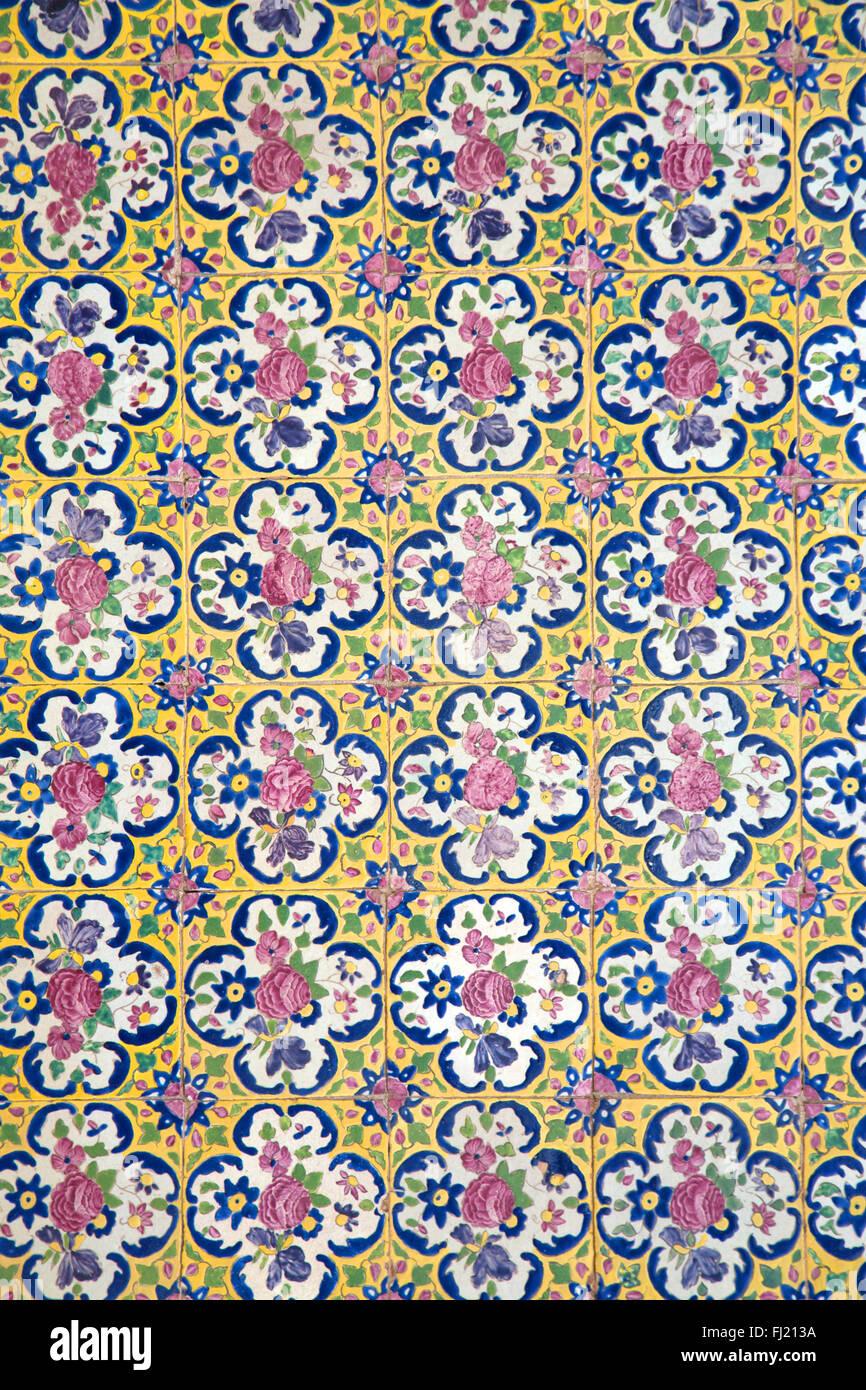 Irán Persia arquitectura - patrón agradable y dibujo en mezquita , Kashan Imagen De Stock