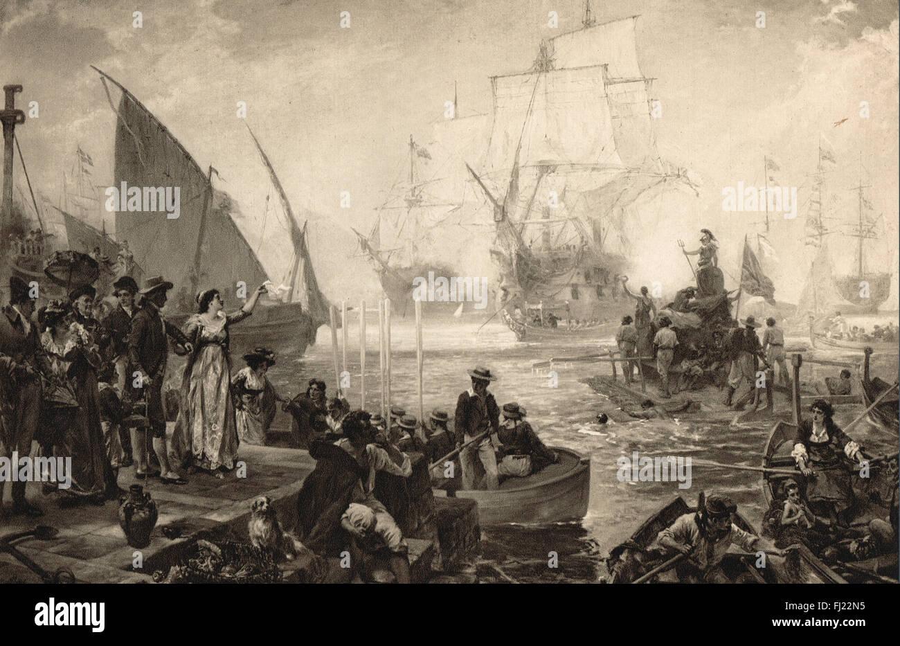 Lady Hamilton celebra los vencedores del Nilo 1798 Imagen De Stock