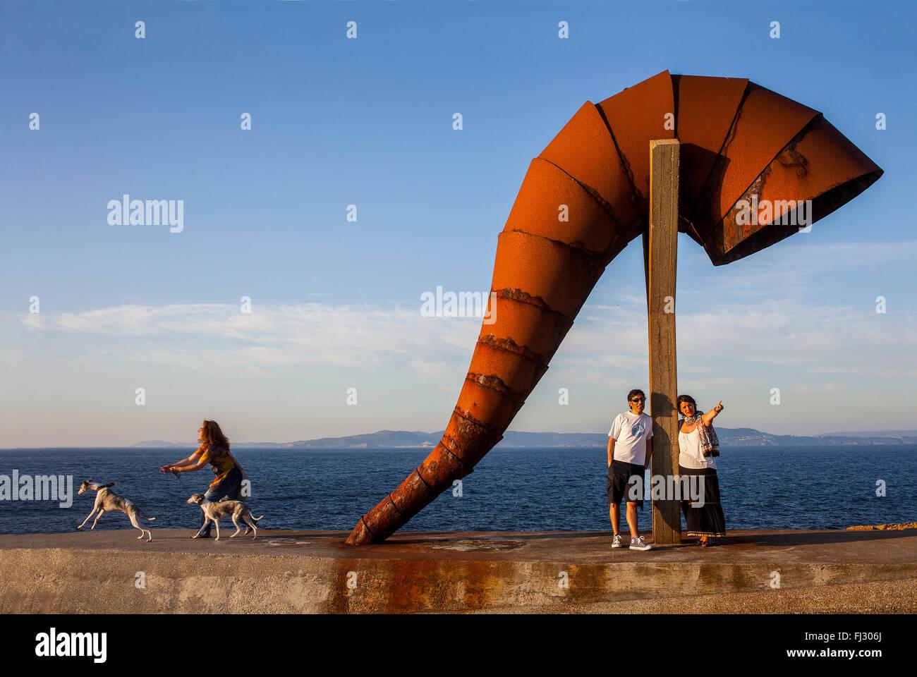 Gente de Caracola, caracol, por Moncho Amigo, la ciudad de A Coruña, Galicia, España Imagen De Stock