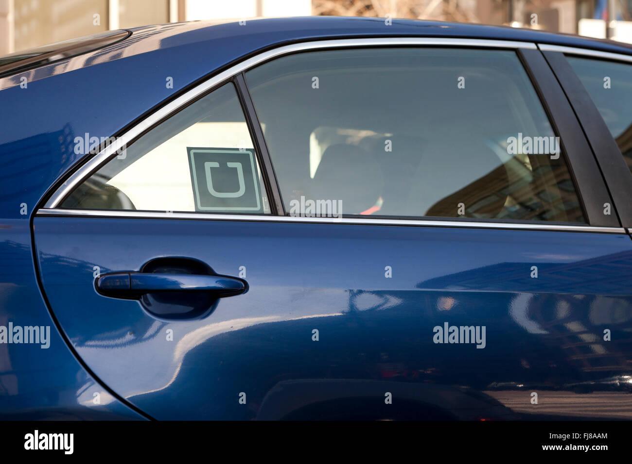 Super adhesivo en ventanilla - EE.UU. Imagen De Stock