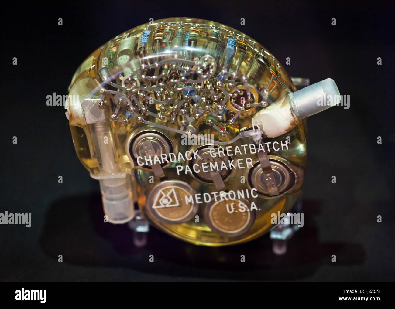Medtronic Chardack marcapasos Greatbatch, circa 1960 - Oficina de Marcas y Patentes de Estados Unidos, Alexandria, Virginia, EE.UU. Foto de stock