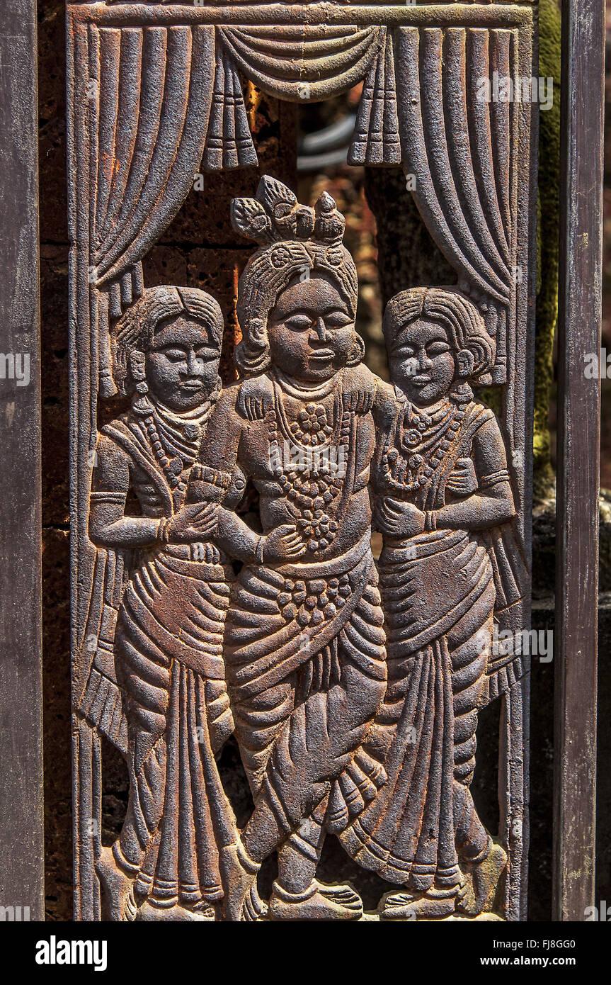 Krishna teatro museo de folklore de Kerala, Cochin, Kerala, India, Asia Imagen De Stock