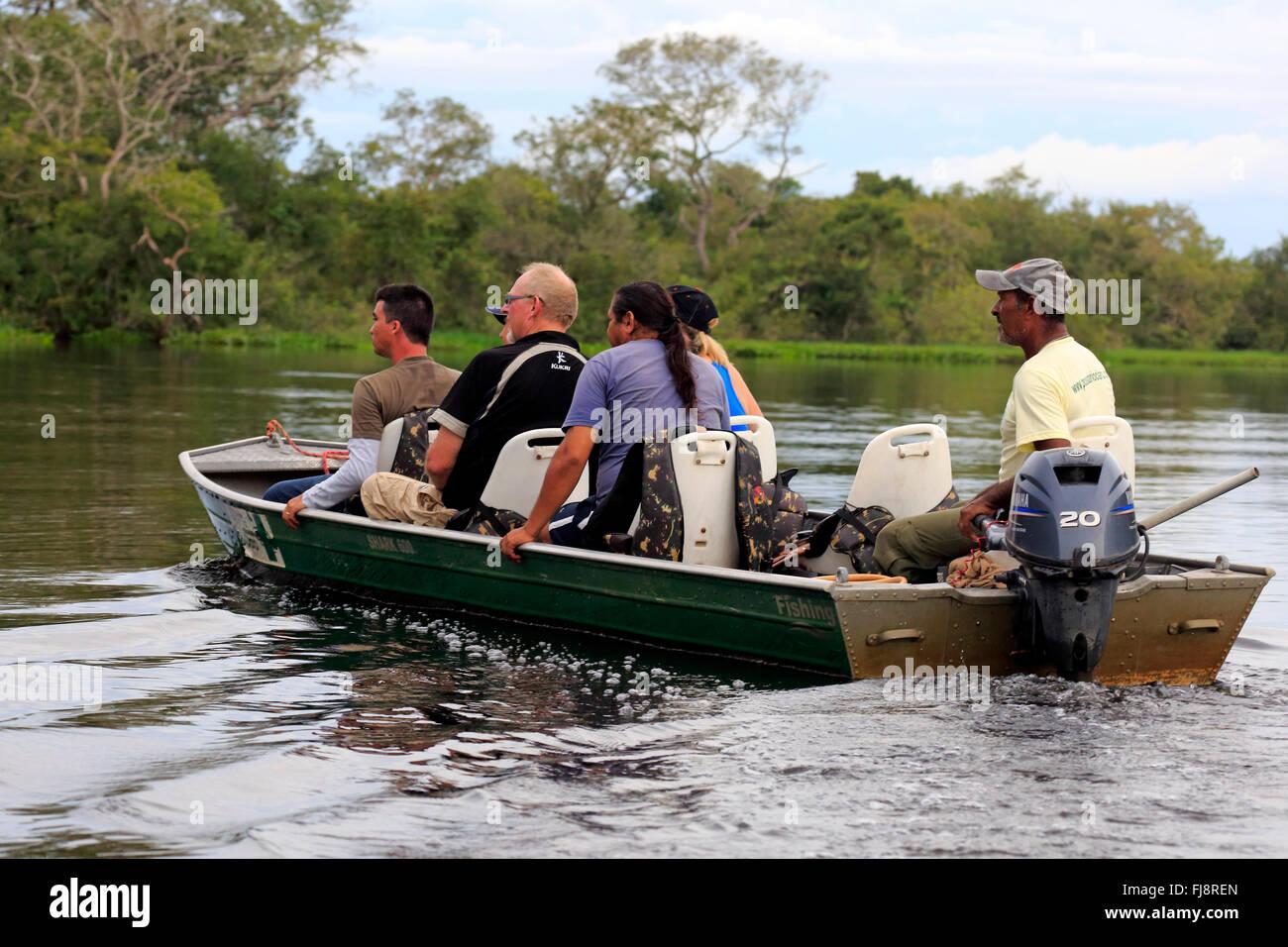 Viaje turístico, Pantanal, Eco friendly River Safari, naturaleza, descubrimiento, relajante, el Pantanal de Imagen De Stock