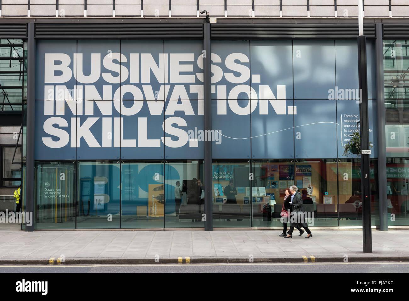 La oficina del \'Departamento de negocios, Innovación y Habilidades ...