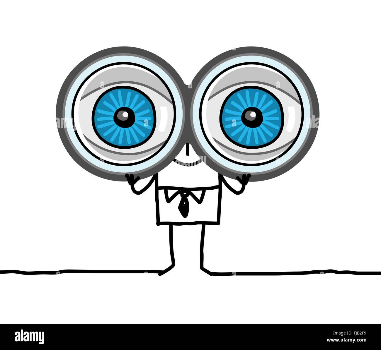 Los Personajes De Dibujos Animados Dibujados A Mano Ojos