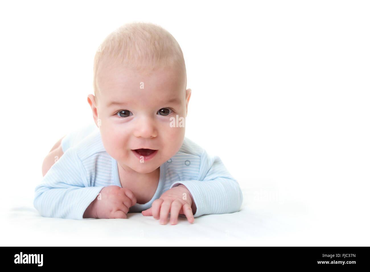 Tres meses bebé aislado Foto de stock