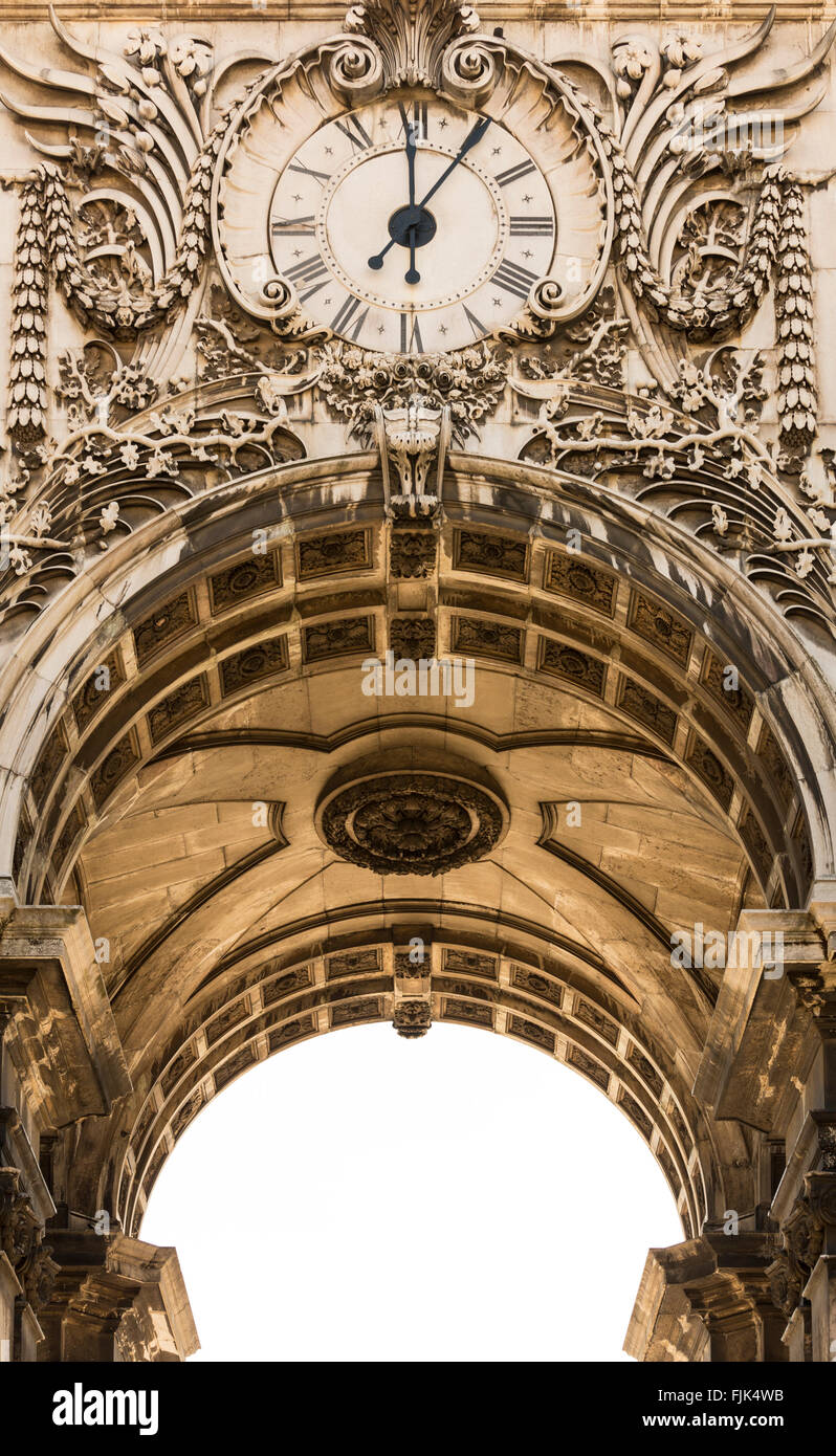 Rua El Ornamentado En Reloj Famoso De Detalle Del Augusta La Arco xBWdeCro
