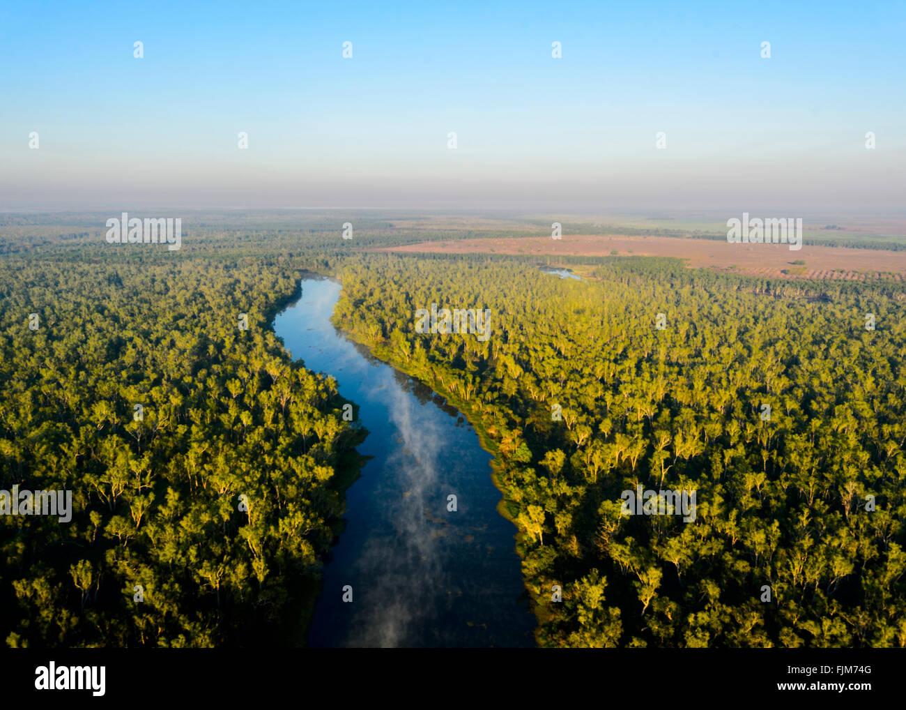 Vista aérea del paisaje cerca de Darwin, el Territorio del Norte, Australia Foto de stock