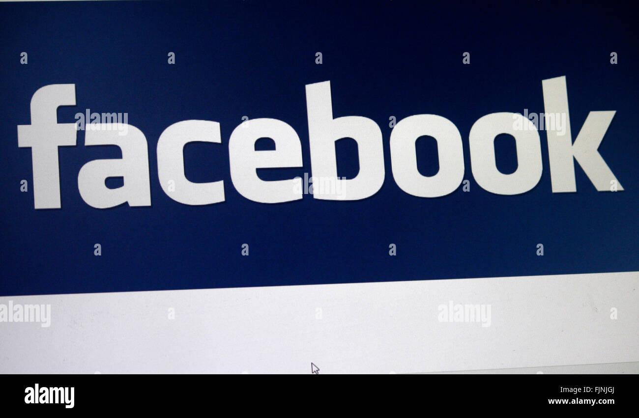 "Markenname: ""Facebook"", Berlín. Imagen De Stock"