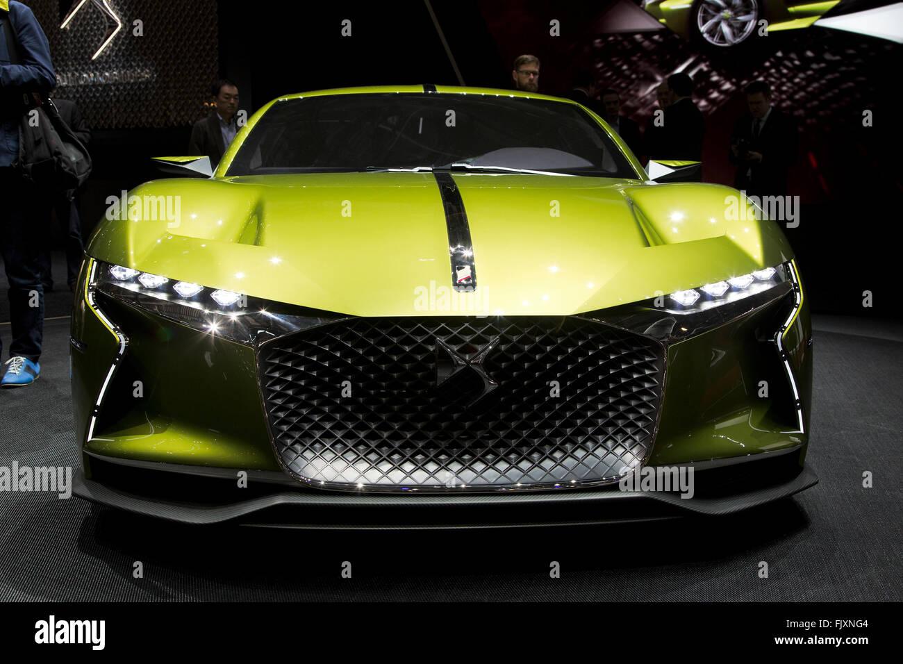 DS E-tensa electric concept car en el Salón del Automóvil de Ginebra 2016 Imagen De Stock