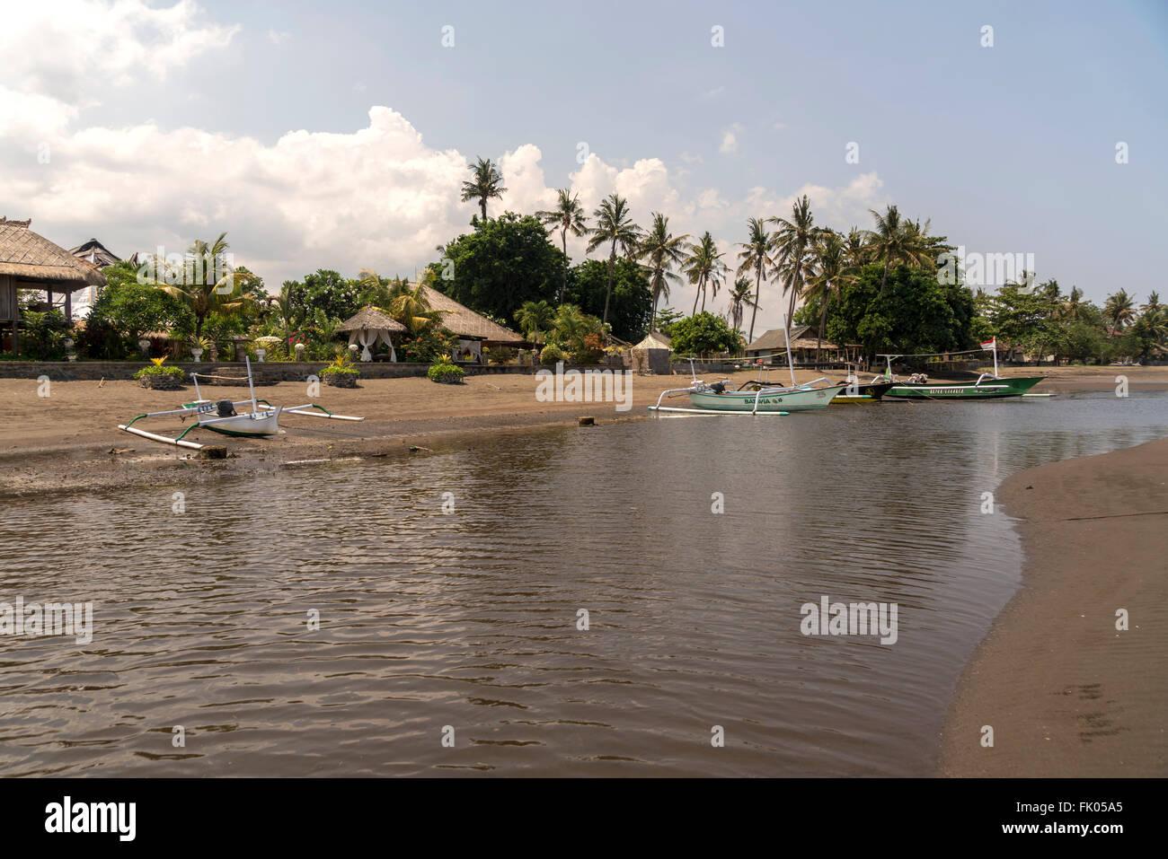 Sandy Beach, Lovina Lovina, Bali, Indonesia Imagen De Stock