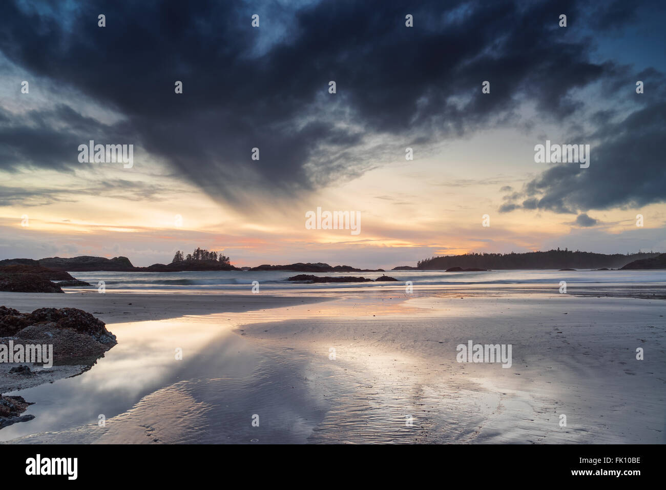 Goleta Cove, Long Beach, Tofino, British Columbia, Pacific Rim National Park Foto de stock