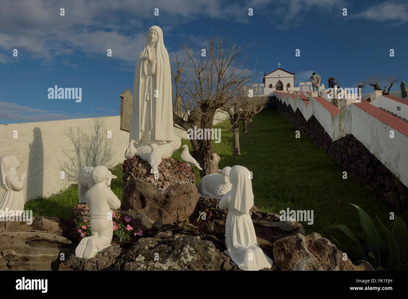 Capilla de Nuestra Señora de Fátima. La Isla de Santa María. Archipiélago de las Azores. Portugal. Atlántico. Europa Foto de stock