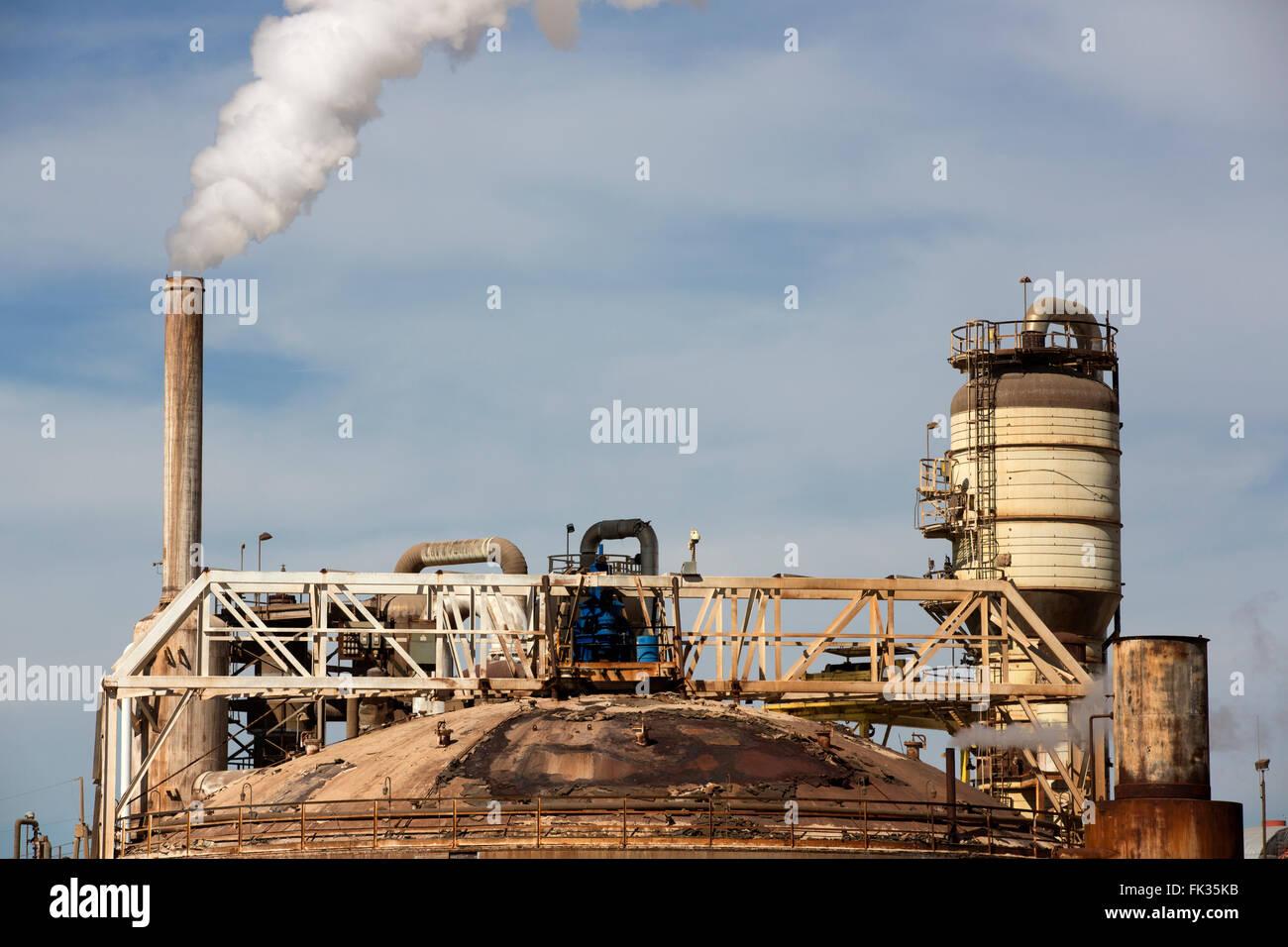 La planta de energía geotérmica, el Valle Imperial, California, Imagen De Stock