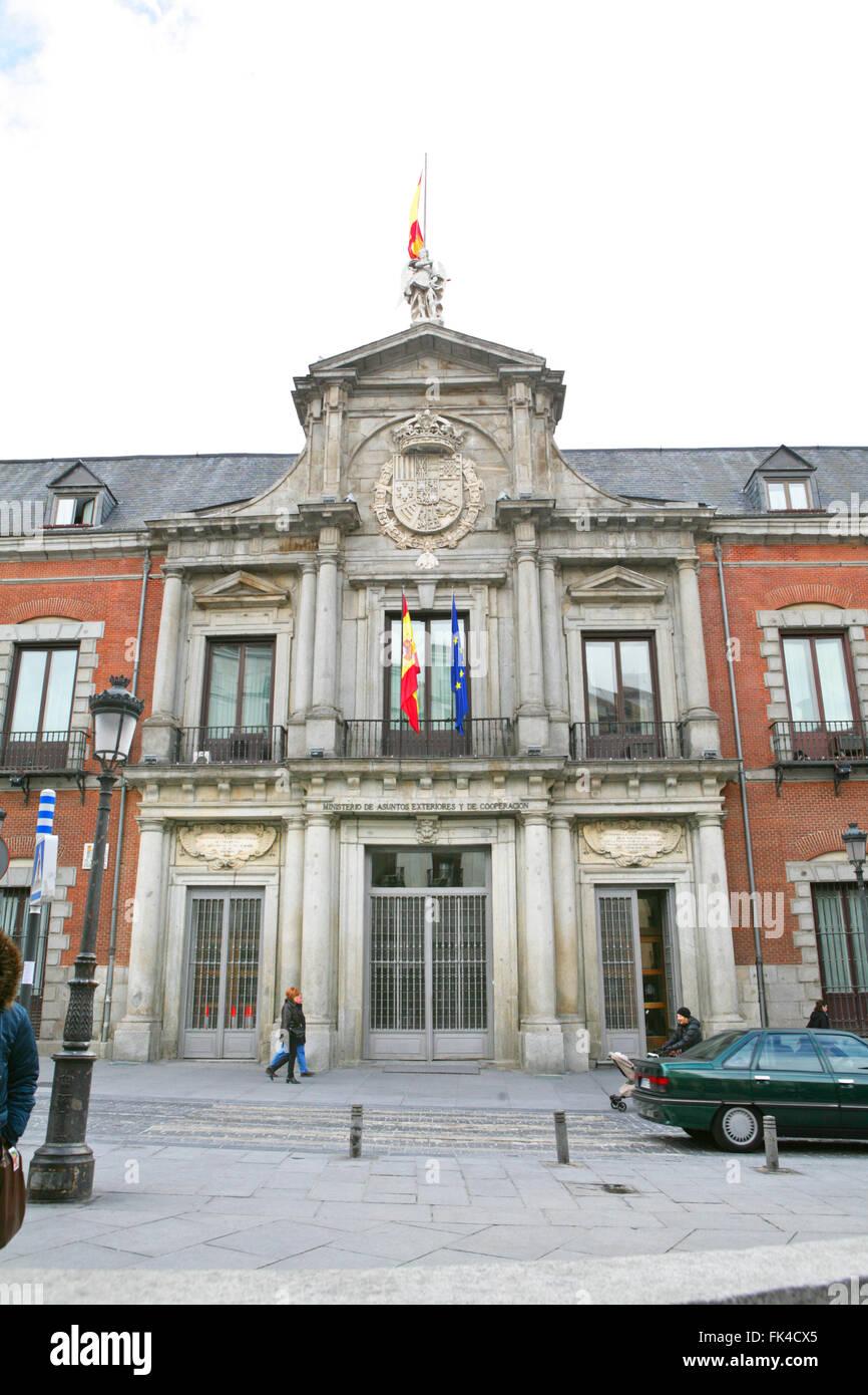 La cárcel(carcel) de Corte, en la Plaza de la provincia, Madrid, España Imagen De Stock