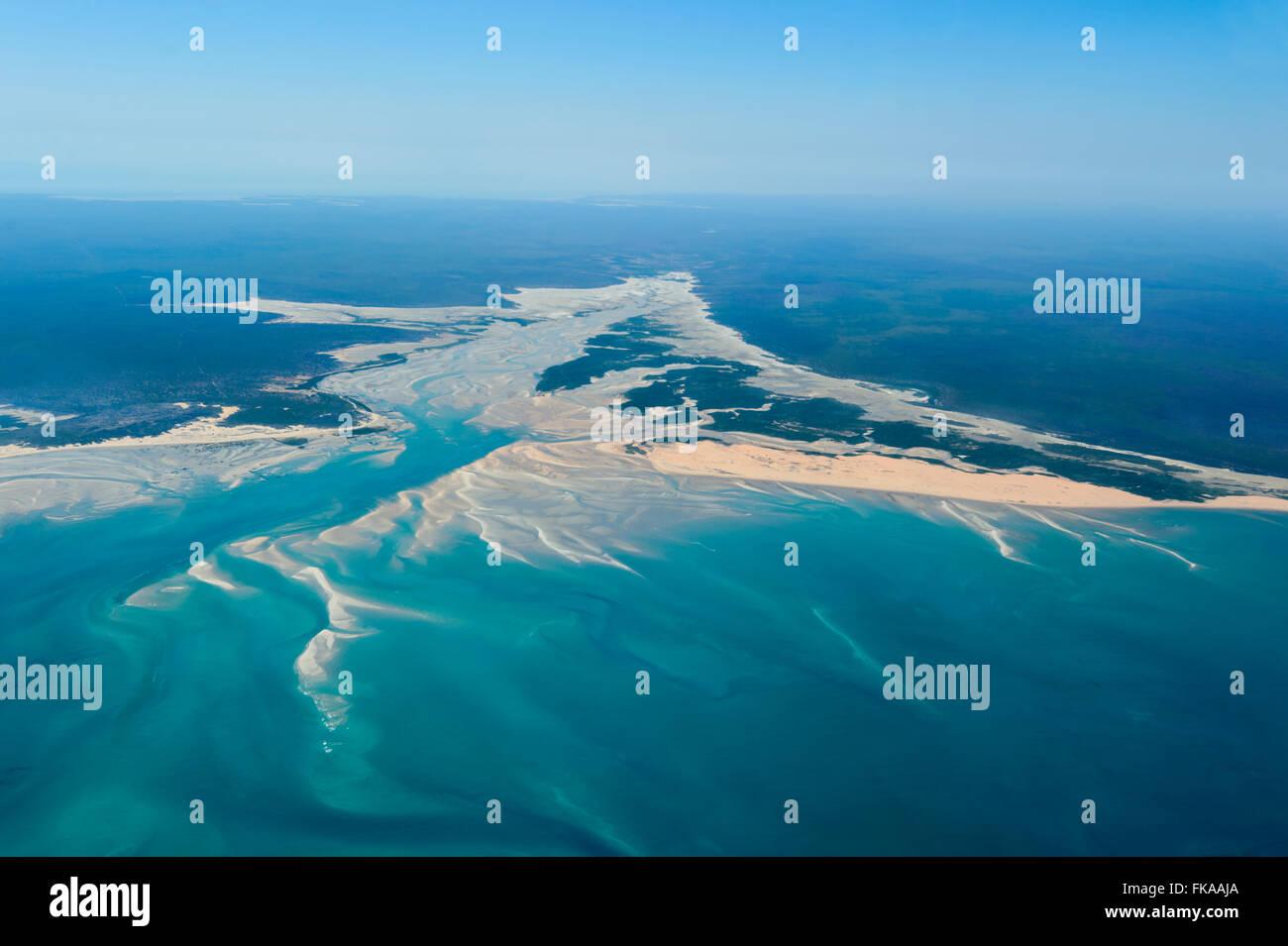Vista aérea de la costa septentrional de Australia Occidental Foto de stock