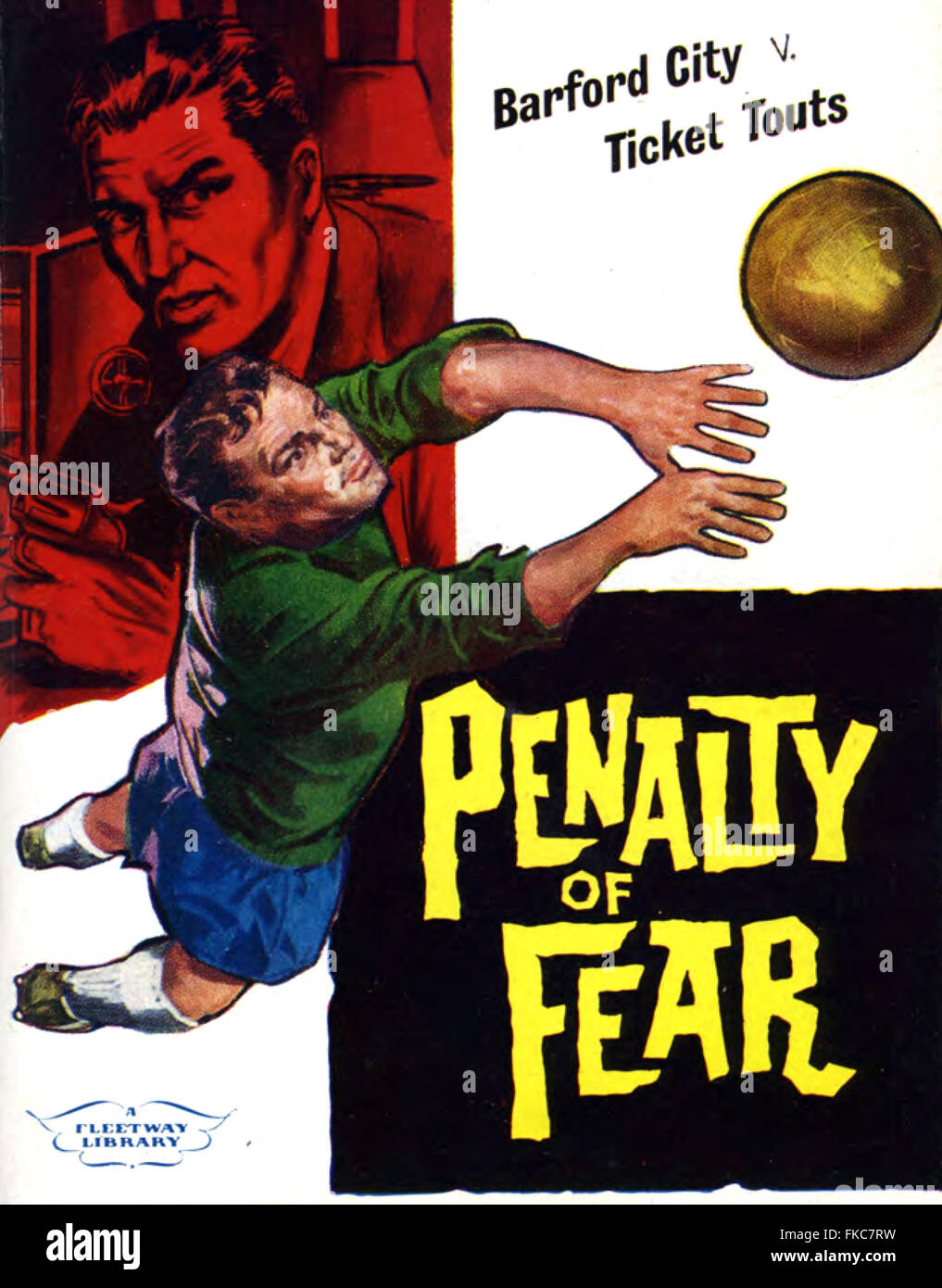 Thriller británico de 1950 la portada de la Revista de la biblioteca de imágenes Imagen De Stock