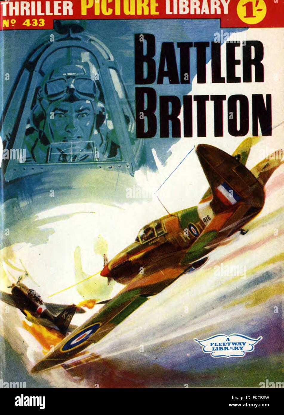 Thriller británico de la portada de la Revista de la biblioteca de imágenes Imagen De Stock