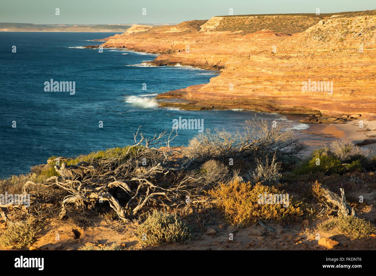 Gantheaume Bay desde el mirador del Águila, Kalbarri National Park, en el oeste de Australia Imagen De Stock