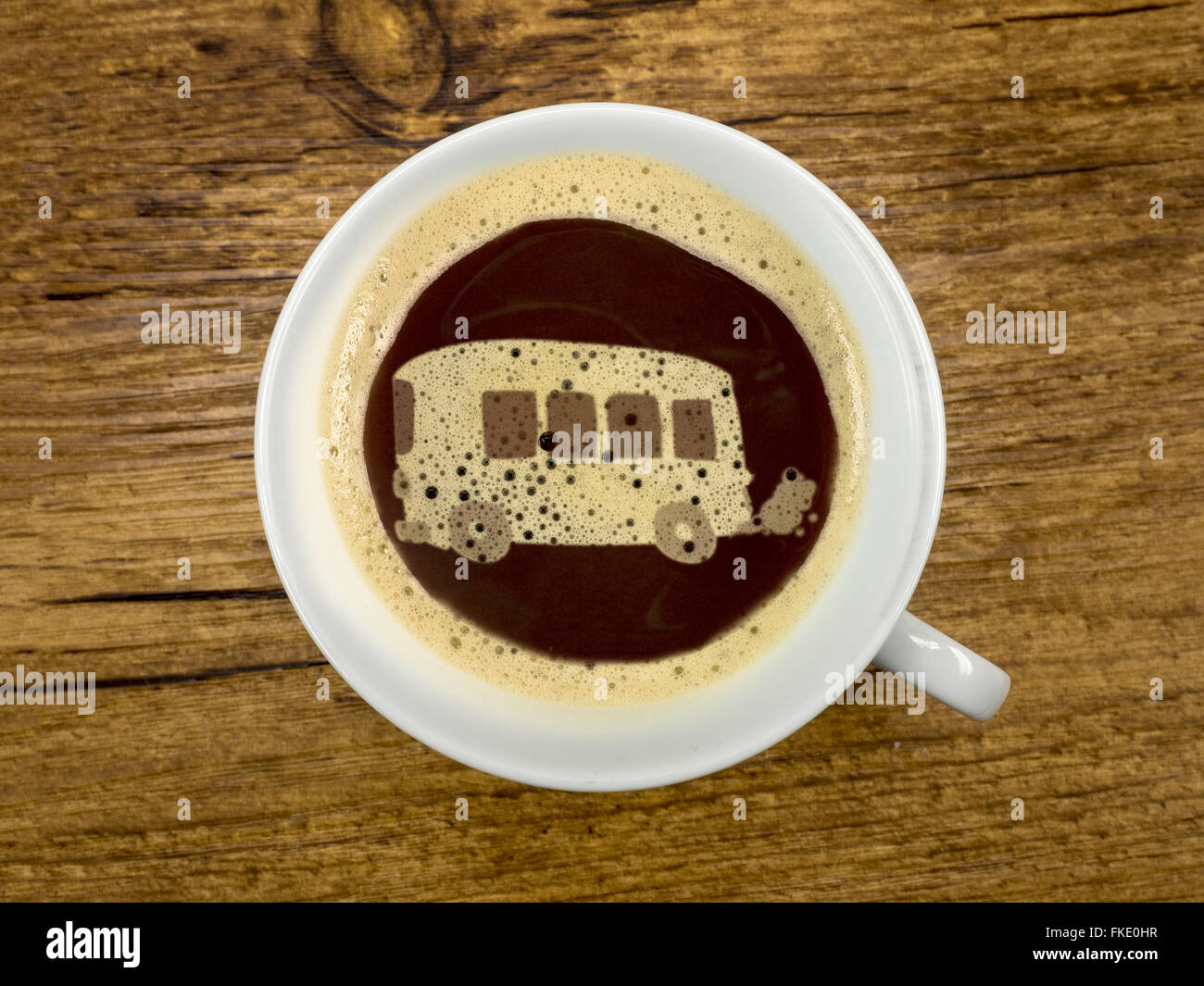 Viaje de un día con el bus Imagen De Stock