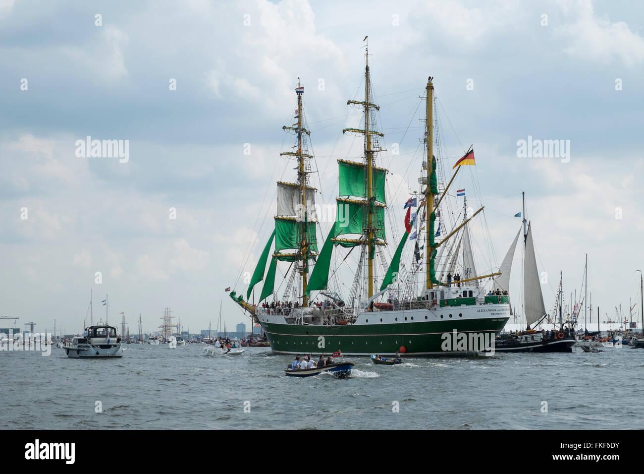 Alexander von Humboldt II. Sail 2015. Los Países Bajos Imagen De Stock