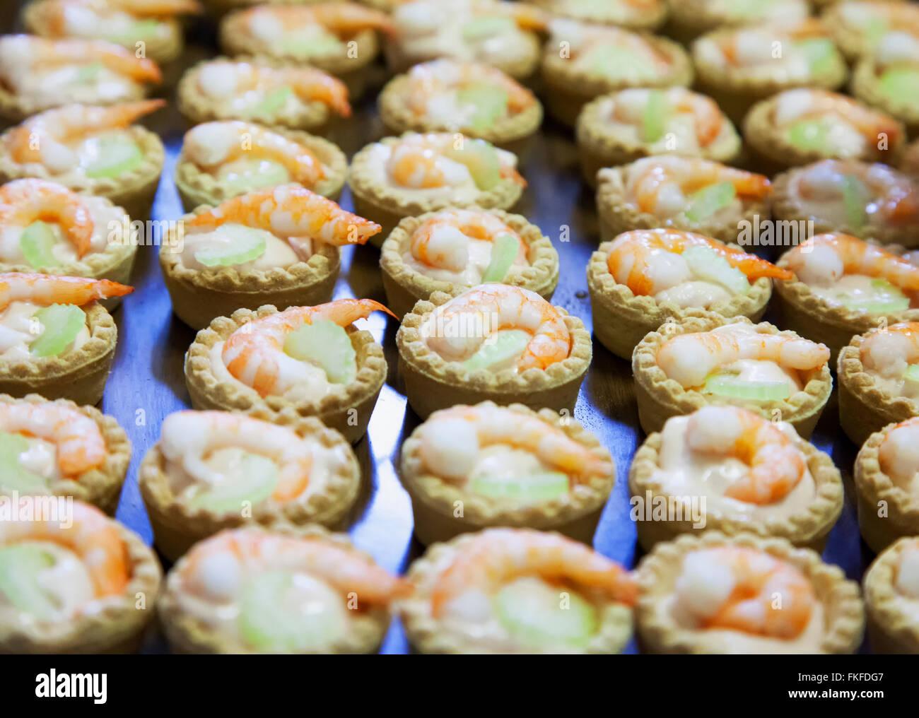 Camarón pastelería en estrecha, imagen horizontal Foto de stock