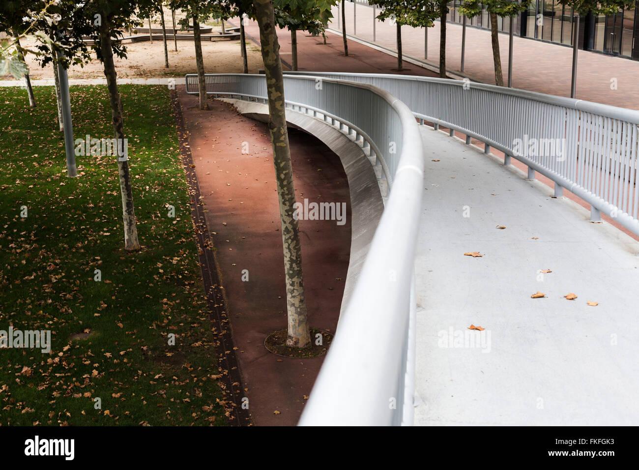 El Parc del Forum de Barcelona. Foto de stock