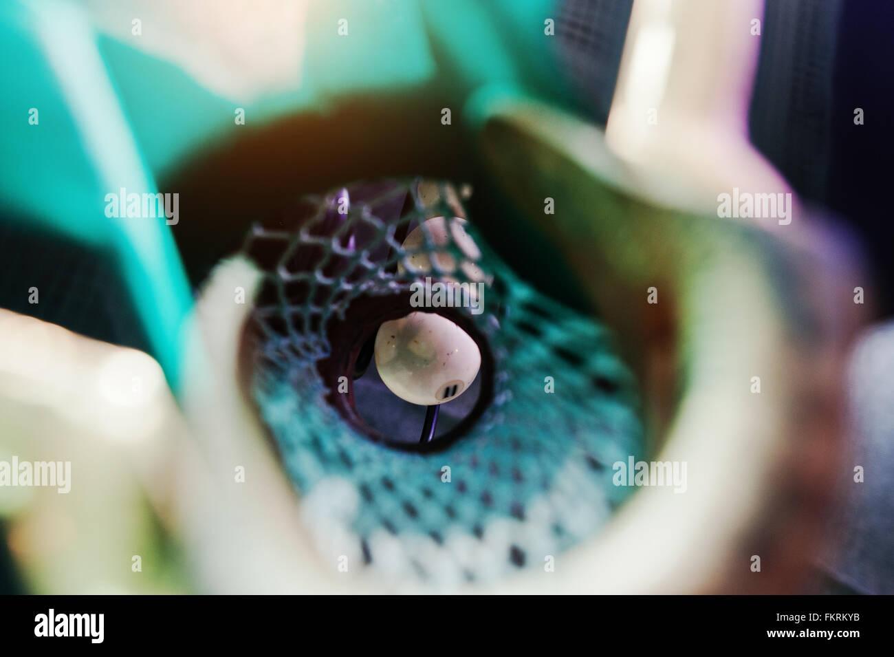 Piscina Billar bola en el hoyo Imagen De Stock
