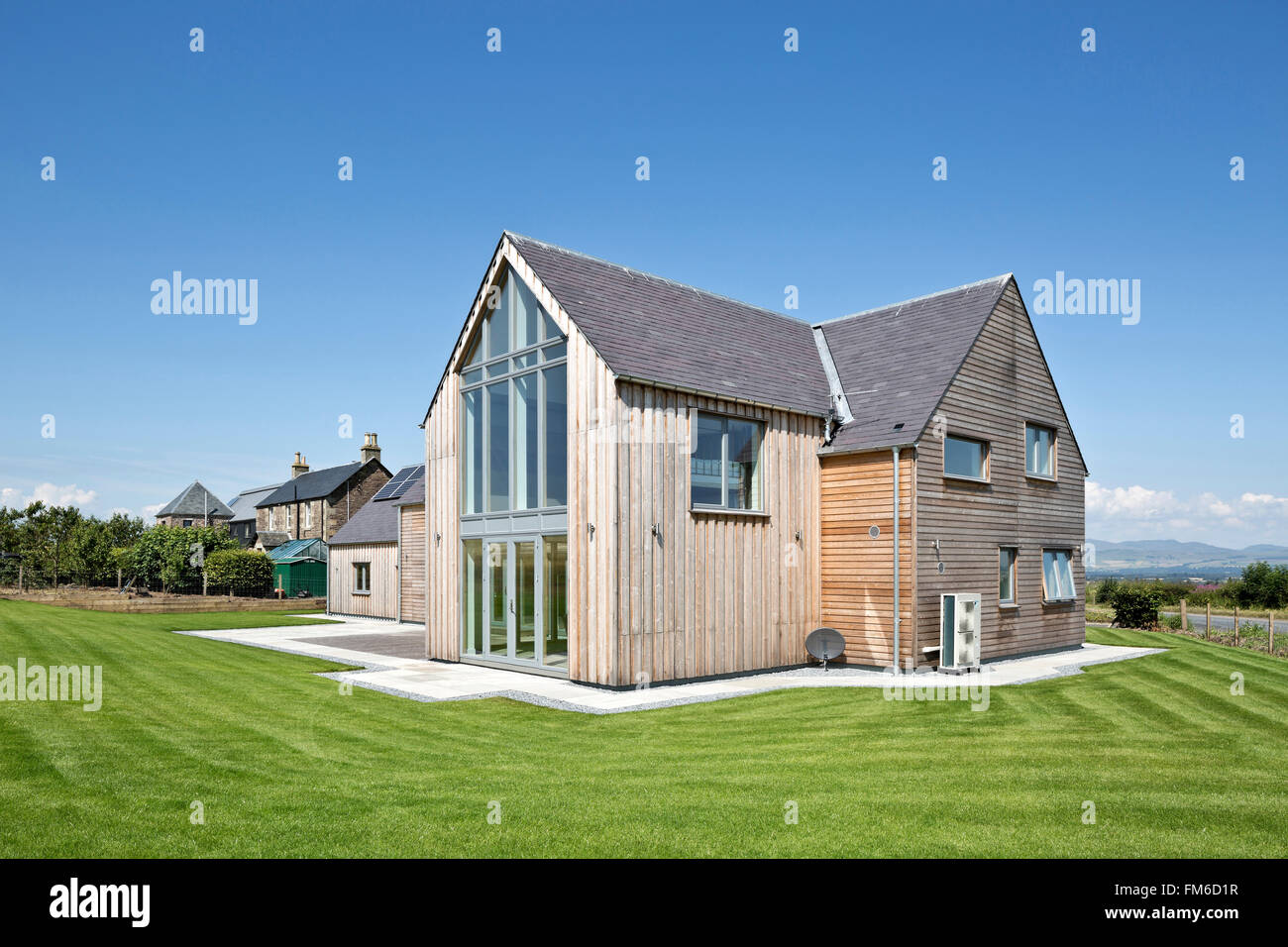 Amor Casa en Gleneagles, diseñado por Allan Corfield Arquitectos. Imagen De Stock