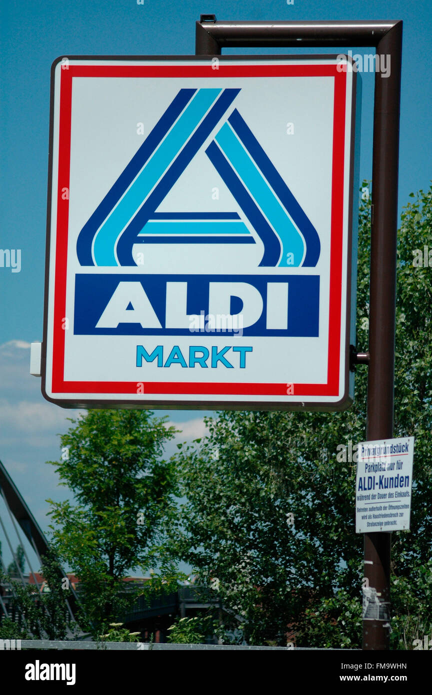 Aldi). Foto de stock