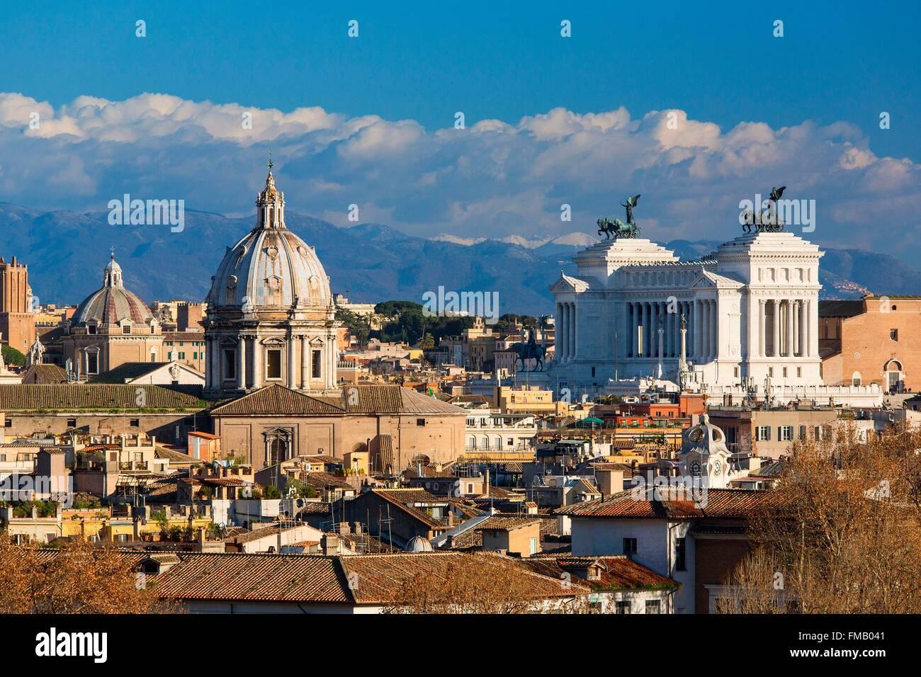 Italia, Lazio, Roma, centro histórico catalogado como Patrimonio Mundial por la UNESCO, la colina Gianicolo, Imagen De Stock