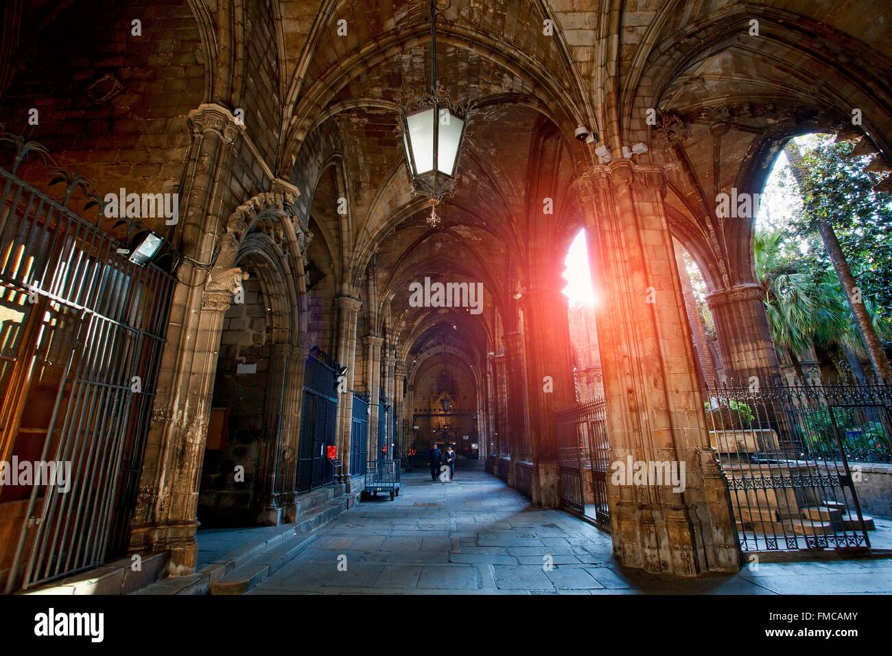 España, Cataluña, Barcelona, la Catedral de Barcelona Foto de stock