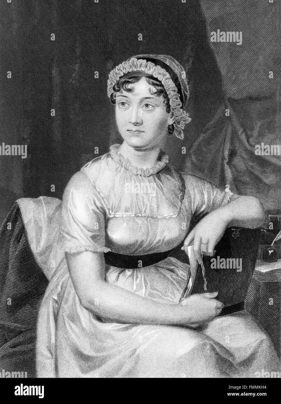Jane Austen (1775-1817). Retrato. Imagen De Stock
